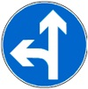 Në cilat drejtime ju lejohet të lëvizni sipas shenjës në foto?