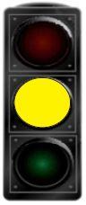 Cila dritë ndizet në semafor pas dritës së verdhë të pandërprerë?