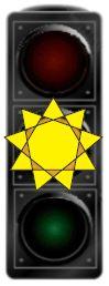 Çfarë do të thotë drita e verdhë vezulluese në semafor?