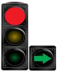 Çka do të thotë ndezja e dritës së kuqe së bashku me shigjetën plotësuese në semafor?