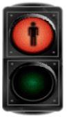 Çfarë lajmëron drita e semaforit si në foto?