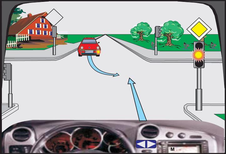 Në semafor ndriçon drita e verdhë vezulluese (me ndërprerje). Çka duhet të keni parasysh në këtë situatë?