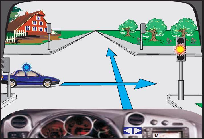 Si do të veproni në këtë situatë, kur në semafor ndriçon drita e verdhë vezulluese?