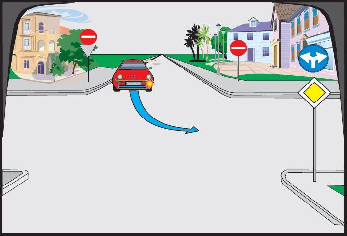 Automjet i kuq kthehet majtas. Si është rreshtuar?
