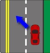 Ndërrim i shiritit të trafikut