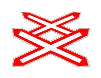 Sinjali në figurë paralajmëron se po i afrohemi një kalimi në nivel të paruajtur, me dy ose me shumë linja hekurudhore.
