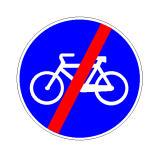 Sinjali në figurë tregon se pas tij është i ndaluar qarkullimi i biçikletave.