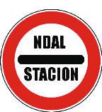 Sinjali në figurë paraqet një stacion autostrade ku është i detyruar ndalimi.