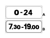 """Paneli plotësues A në figurë, vendosur poshtë sinjalit """"NDALIM QARKULLIMI"""", tregon se ndalohet qarkullimi gjatë 24 orëve."""
