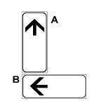 """Paneli plotësues A në figurë, i vendosur poshtë sinjalit që paralajmëron rrezik """"MATERIALE TË PAQËNDRUESHME MBI RRUGË"""", tregon vendin ku fillon rreziku."""