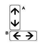Paneli plotësues A në figurë tregon fundin e sensit unik të lëvizjes dhe fillimin e rrugës me dy sense lëvizjeje për qarkullim.