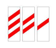 Paneli me 1 vijë të kuqe në figurë tregon se në largësinë 150 metër ndodhet një kalim në nivel apo urë e lëvizshme.