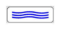 Paneli plotësues në figurë tregon se, në rast shiu, pjesa e rrugës mund të mbulohet me ujë.