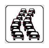 Paneli plotësues në figurë tregon një pjesë rruge të rezervuar vetëm për lëvizjen e autoveturave.