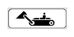 Paneli plotësues në figurë tregon se ndalohet qarkullimi i mjeteve me zinxhirë.