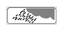 Paneli plotësues në figurë tregon një pjesë rruge të rrezikshme, për shkak të pranisë së erërave anësore.