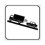Paneli plotësues në figurë tregon një pjesë të rrugës, në të cilën mund të gjenden kamionë që lëvizin ngadalë.