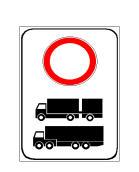 Sinjali në figurë tregon se mund të qarkullojnë të gjitha kategoritë e mjeteve me motor, përveç atyre të treguara në sinjal.