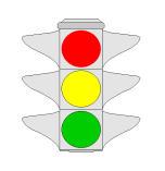 Kur në semafor ndizet drita jeshile duhet të kalojmë kryqëzimin duke treguar kujdes.