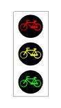 Sinjali semaforik në figurë tregon ndalimin e kalimit të biçikletave.