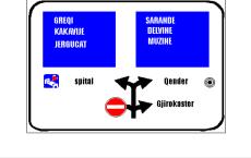 Sinjali në figurë tregon detyrimin për t'u kthyer vetëm djathtas.