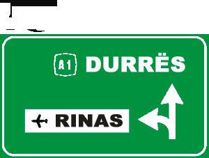 Sinjali në figurë është sinjal i parazgjedhjes mbi rrugë interurbane kryesore.