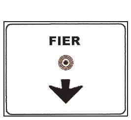 Sinjali në figurë tregon se për të shkuar në qendër të qytetit të Fierit, duhet vazhduar lëvizja drejt.