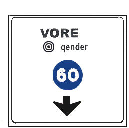 Sinjali në figurë tregon drejtimin, i cili duhet ndjekur, për të mbërritur në qendër të qytetit të Vorës.