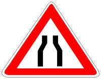 Në prani të sinjalit në figurë duhet zvogëluar shpejtësia e lëvizjes së mjetit.