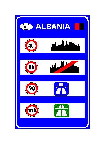 Sinjali në figurë tregon se shpejtësia maksimale e lejuar në autostrada, në Shqipëri është 110 km/orë.