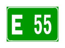 Sinjali në figurë tregon numrin e Autostradës Ndërkombëtare Evropiane.