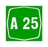 Sinjali në figurë tregon numrin e autostradës, në të cilën ndodheni ose do të futeni.