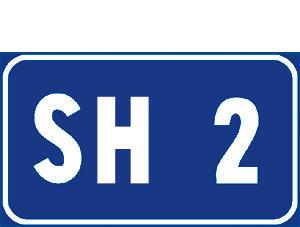 Sinjali në figurë tregon numrin e një rrugë fshati.
