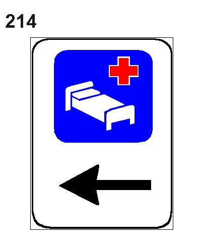 Sinjali në figurë tregon se në afërsi ndodhet një studio mjekësore.