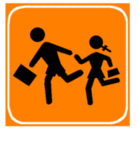 Sinjali në figurë paralajmëron një shkollë fillore.
