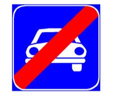 Sinjali në figurë tregon se rruga, pas këtij sinjali, lejon lëvizjen edhe të mjeteve pa motor.