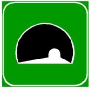 Sinjali në figurë tregon fillimin e një tuneli në autostradë.
