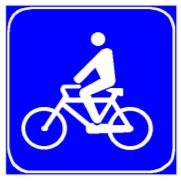 Sinjali në figurë tregon fillimin e një piste për biçikleta.