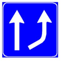 Sinjali në figurë paraqet detyrimin e kthimit të mjeteve nga e djathta.