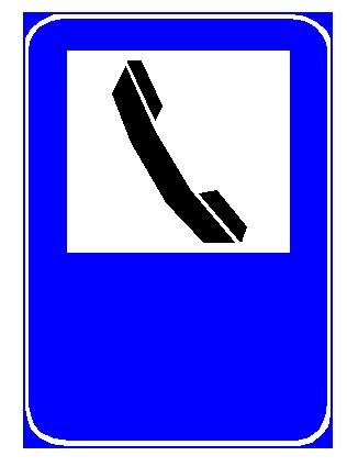 Sinjali në figurë tregon praninë e një telefoni publik, që mund të përdoret nga drejtuesit e mjeteve.