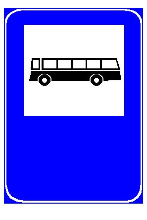 Sinjali në figurë tregon një korsi të rezervuar për autobusët interurbanë (ndërqytetës).
