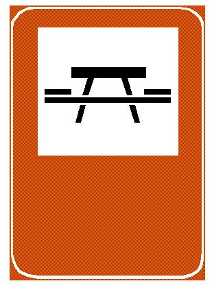 Sinjali në figurë detyron drejtuesit e mjeteve dhe përdoruesit e tjerë të rrugës që të bëjnë pushim.