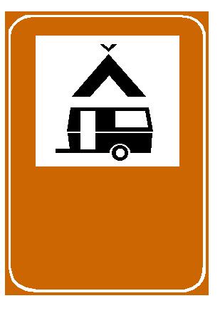 Sinjali në figurë tregon rrugë të rezervuar për autokampet.