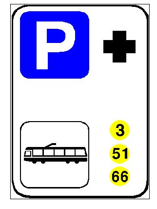 Sinjali në figurë sinjalizon drejtuesit e mjeteve se në afërsi ndodhet një qendër mjekësore për dhënien e ndihmës së parë.