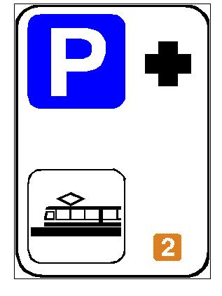 Në anën e djathtë të sinjalit në figurë, në pjesën e poshtme, tregohet numri i linjës së transportit publik me metro.