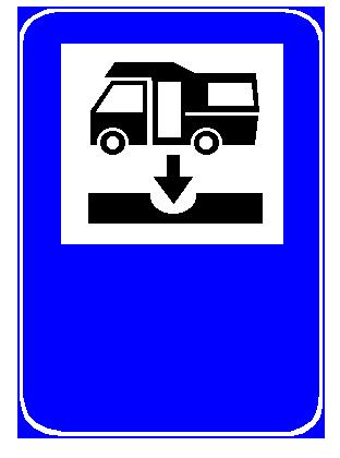 Sinjali në figurë tregon një impiant për peshimin e autokampeve.