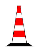 Sinjali në figurë mund te kufizojë një zonë të punimeve në rrugë, për një kohë të shkurtër.