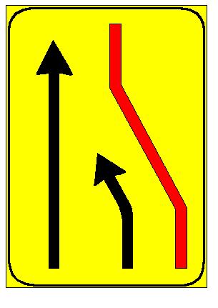Sinjali në figurë tregon që është e detyrueshme t'i jepet përparësia mjeteve që vijnë nga korsia e djathtë.