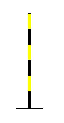 """Kufizuesi në figurë tregon afrimin e një kryqëzimi në formë """"T""""-je."""