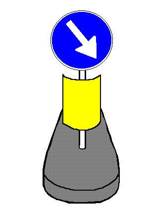 Sinjali në figurë paralajmëron një karrexhatë të bllokuar për punime rrugore.